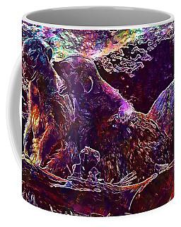 Coffee Mug featuring the digital art Meerkat Zoo Lazy Nature Animal  by PixBreak Art