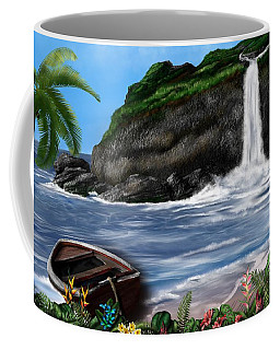 Coffee Mug featuring the digital art Meet Me At The Beach by Mark Taylor