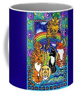 Meet Me At The Rainbow Bridge - Cat Painting Coffee Mug