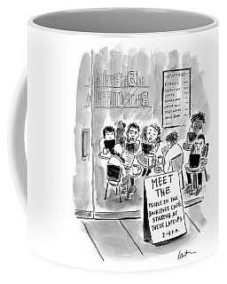 Meet The People In The Bookstore Cafe  Coffee Mug