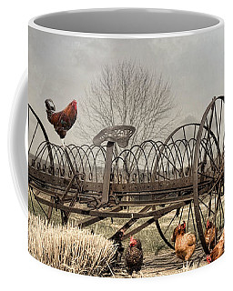 Coffee Mug featuring the photograph Meeting At Rusty Rake by Robin-Lee Vieira