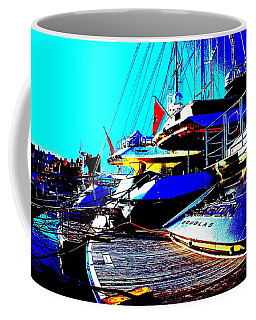 Mega Yachts Coffee Mug by Rogerio Mariani