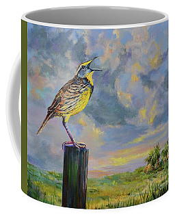Coffee Mug featuring the painting Melancholy Song by AnnaJo Vahle