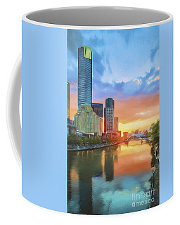 Melbourne River Sunset    Go3 Coffee Mug
