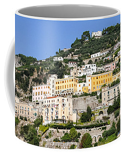 Mellow Yellow Buildings Coffee Mug by Allan Levin
