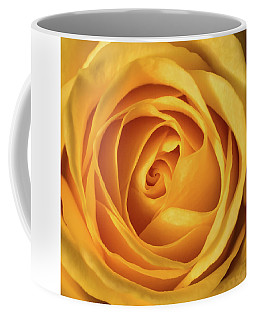 Coffee Mug featuring the photograph Mellow Yellow Rose Square by Terry DeLuco