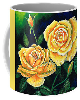 Coffee Mug featuring the painting Mellow Yellow by Val Stokes