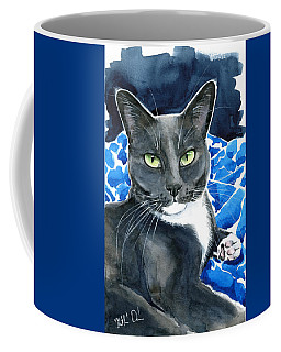 Melo - Blue Tuxedo Cat Painting Coffee Mug