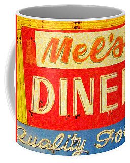 Coffee Mug featuring the photograph Mels Diner by Wingsdomain Art and Photography