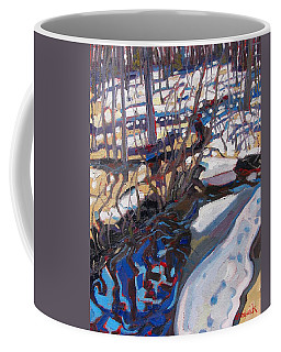 Melt Water And Ice At The Forest Edge Coffee Mug