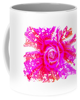 Melting Pink Rose Fractalius Coffee Mug