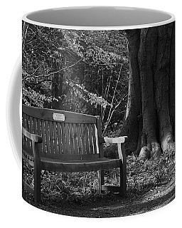 Coffee Mug featuring the photograph Memorial Bench by Keith Elliott