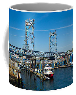 Memorial Bridge Portsmouth Coffee Mug by Kevin Fortier