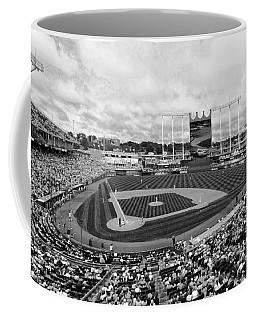 Memorial Day At Kauffman Stadium Bw Coffee Mug