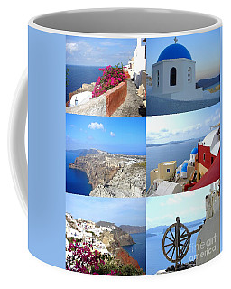 Memories From Santorini Coffee Mug by Ana Maria Edulescu