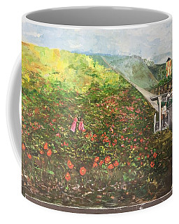 Coffee Mug featuring the painting Memories Of Commonwealth - Wall II by Belinda Low