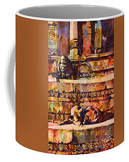 Memories Of Happier Times- Nepal Coffee Mug by Ryan Fox