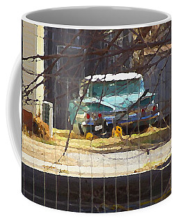 Memories Of Old Blue, A Car In Shantytown.  Coffee Mug