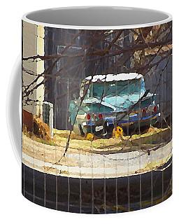 Memories Of Old Blue, A Car In Shantytown.  Coffee Mug
