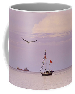Coffee Mug featuring the photograph Memories Of The Lake by Heidi Hermes