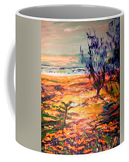 Coffee Mug featuring the painting Memory Pandanus by Winsome Gunning