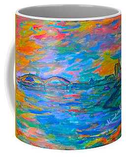 Coffee Mug featuring the painting Memphis Edge  by Kendall Kessler