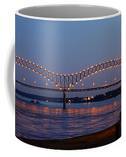 Memphis - I-40 Bridge Over The Mississippi 2 Coffee Mug by Barry Jones
