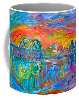 Coffee Mug featuring the painting Memphis Spin by Kendall Kessler