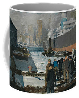 Coffee Mug featuring the painting Men Of The Docks by George Bellows