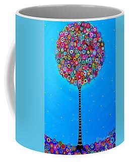 Coffee Mug featuring the painting Purpose Of Life by Pristine Cartera Turkus
