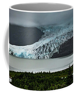 Coffee Mug featuring the photograph Mendenhall Glacier by Ed Clark