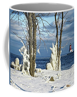 Menominee Lighthouse Ice Sculptures Coffee Mug