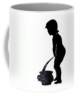Mens Room Sign Silhouette Coffee Mug