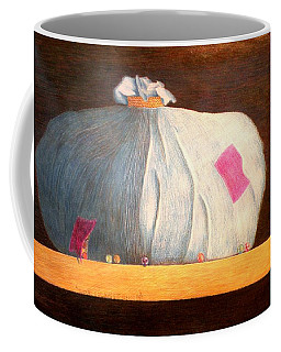 Coffee Mug featuring the painting Mental Escapees by A  Robert Malcom