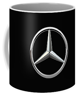 Mercedes-benz - 3d Badge On Black Coffee Mug