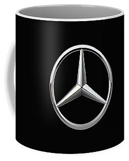 Mercedes-benz - 3d Badge On Black Coffee Mug by Serge Averbukh