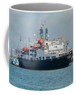 Merchant Marine Training Ship Kennedy And Tugboats Coffee Mug