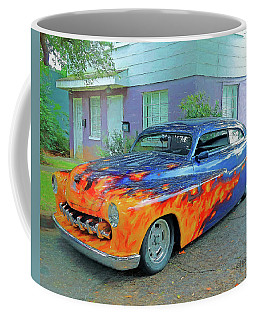 Mercury Lead Sled Classic Car Coffee Mug by Rebecca Korpita