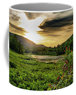 Meredith Pond Sunset Coffee Mug