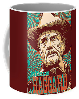 Merle Haggard Pop Art Coffee Mug by Jim Zahniser
