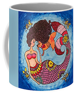 Mermaid And Catfish Coffee Mug