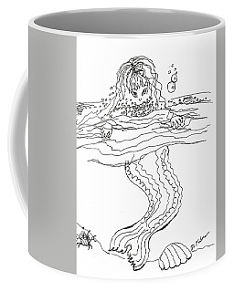 Mermaid Bubblebath Bw Coffee Mug