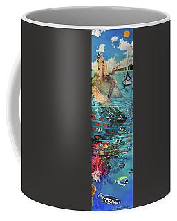 Mermaid In Paradise Towel Version Coffee Mug