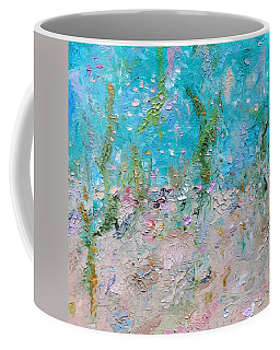 Coffee Mug featuring the painting Mermaid Meditation by Judith Rhue