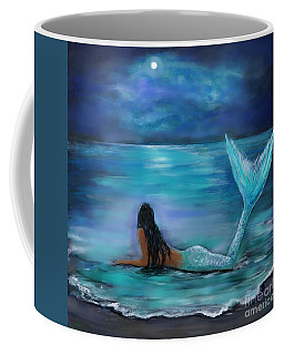 Mermaid Moon And Stars Coffee Mug
