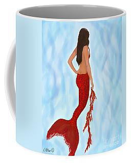 Coffee Mug featuring the painting Mermaid Ruby by Leslie Allen