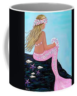Coffee Mug featuring the painting Mermaid Sweetie by Leslie Allen