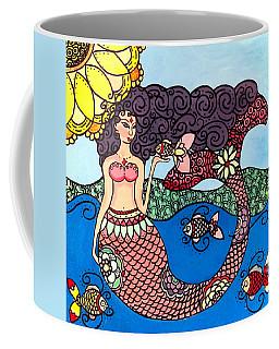 Mermaid With Fish Coffee Mug