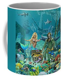 Mermaid's Coral Reef Treasure Coffee Mug