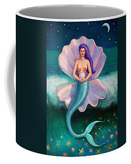Coffee Mug featuring the painting Mermaid's Pearl by Sue Halstenberg
